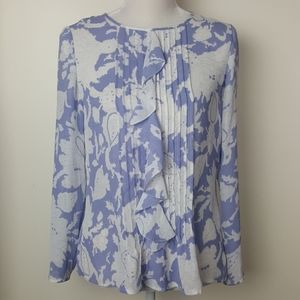 Banana Republic Pleated Ruffle Floral Top